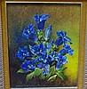 Robert Cox (working 1970s-80s) Blue Jentain Oil on