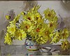 Alan Baker ( 1914-1987) Yellow Daisies Oil on