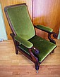 Tasmanian colonial cedar adjustable armchair with