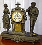 Antique Ansonia mantle clock in figural spelter