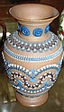 Doulton silicon ware vase c1880 Approx height 22cm