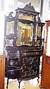 Edwardian ebonised rosewood chiffonier ornately
