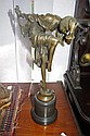 Bronze Art Deco style figure of a dancing lady on