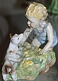 Royal Worcester figure 'Two babies' modelled by