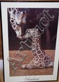 Sharni framed Giraffe photo Image size approx 75cm