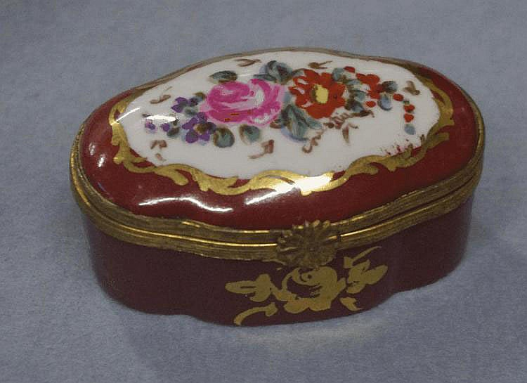 Hand painted Limoges trinket box