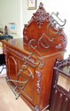 Victorian carved cedar sideboard carved drawer