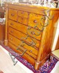 Victorian mahogany chest of drawers with long