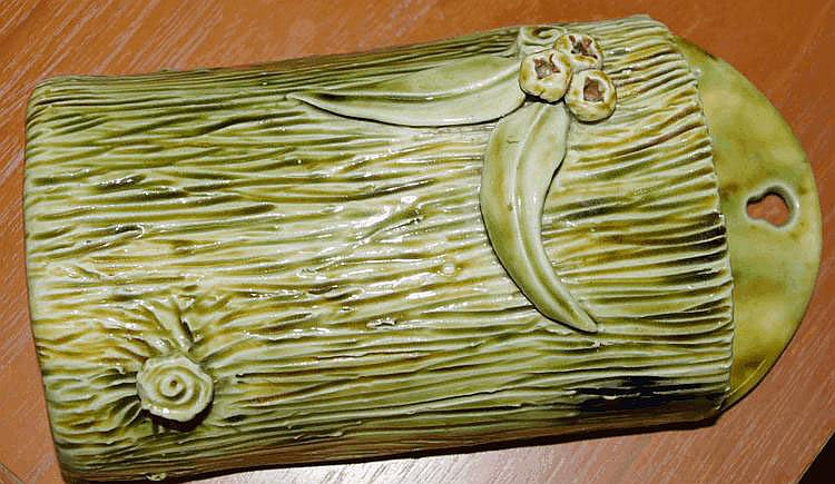 Australian pottery wall vase signed E. Andersen