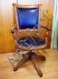 Antique walnut swivel chair