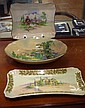Two Royal Doulton trays & a bowl Stratford Church