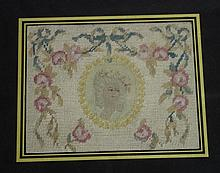 Small antique framed needlework
