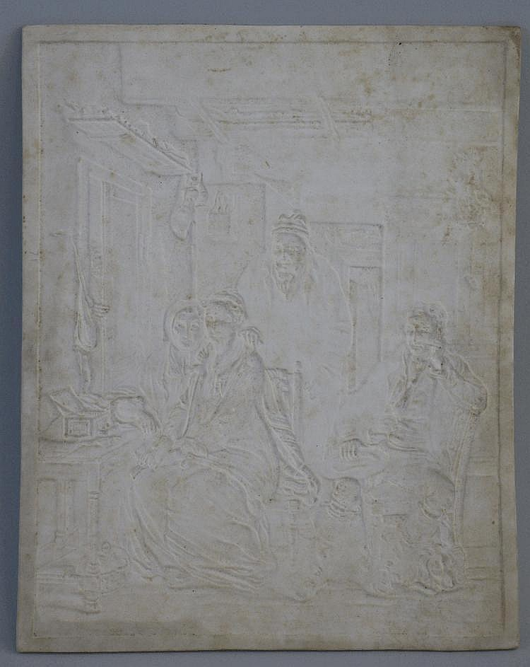 A 19th Century German lithophane panel