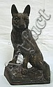 CAST IRON GERMAN SHEPARD DOORSTOP; 9 1/2 IN H