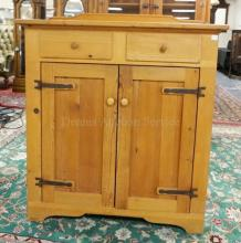 PINE JAM CUPBOARD. 51 IN TALL. 45 IN WIDE.