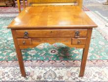 LEXINGTON LAMP TABLE WITH 3 DRAWERS. 26 IN TALL. 22 IN TALL.