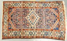 ANTIQUE CAUCASIAN RUG WITH GEOMETRIC DESIGN. 4 FT X 2 FT 6 IN.