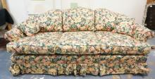PENNSYLVANIA HOUSE *MANOR* FLOWER PRINT SOFA. 85 IN WIDE.