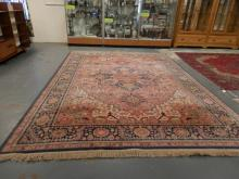 ROOM SIZE ORIENTAL RUG. 13 FT 11 IN X 10 FT 2 IN.
