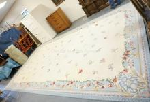LARGE ROOM SIZE WOOL CARPET BY STARK. 11 FT X 20 FT.