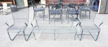 3 PC IRON PATIO LOVESEAT & 2 CHAIRS.