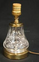 WATERFORD CRYSTAL LAMP. 8 1/4 IN.