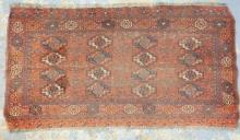 FINE TURKIOMIAN RUG. 4 FT 8 IN X 2 FT 5 IN