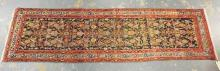 ORIENTAL RUNNER. 8 FT 11 INCHES X 2 FT 5 INCHES.