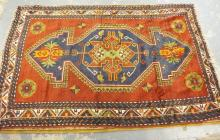 KAZAK ORIENTAL RUG. 8 FT 10 INCHES X 5 FT 7 INCHES.
