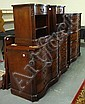 CARVED MAHOGANY 5 PC BEDROOM SUITE; WHITE FURN