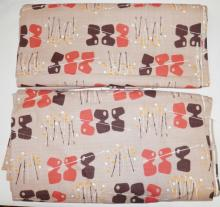 2 PC ABSTRACT FABRIC. 10 YARDS X 48 IN AND 10 1/2 YDS X 48 IN