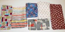 6 PC MID C ABSTRACT FABRIC: 4 YDS X 40 IN, 2 YDS X 33 IN, 2.5 YDS X 35 IN, 3 YDS X 35 IN, 1 2/3 YD X 29 IN AND 4 YDS X 38 IN