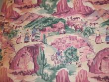 8 MATCHING KANDELL DESIGN FABRIC PANELS W/ SOUTHWESTERN THEME. 46 IN X 92 IN