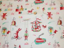 BOLT OF CHILDREN'S FABRIC. 8 YD X 37 IN