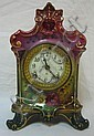 ANSONIA CHINA CASE CLOCK; 7 1/2 IN W, 10 3/4 IN H