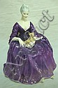 ROYAL DOULTON FIGURE; *CHARLOTTE* W/DOG, 1971; 6
