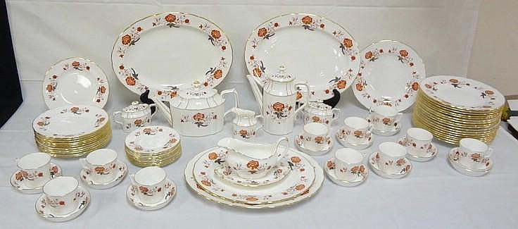 73 PC ROYAL CROWN DERBY SCALLOPED EDGE *BALI*