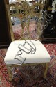 CARVED, PAINT DECORATED CHIPPENDALE SIDE CHAIR;