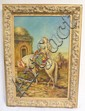 FRAMED O/C OF AN ARAB MAN ON A WHITE HORSE AT AN