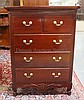 5 DRW MAHOGANY HIGH CHEST W/SCROLL FEET