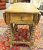 ONE DRW GATELEG DROP LEAF TABLE W/TURNED LEFS &