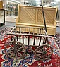 WOODEN WAGON; BODY IS 35 IN X 23 1/2 IN