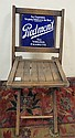 PIEDMONT CIGARETTE FOLDING CHAIR; ENAMEL SIGN;