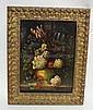 FRAMED O/B FLORAL STILL LIFE; 11 1/2 IN X 15 1/2