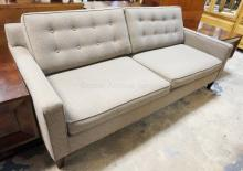 GREY SOFA. MAX HOME DESIGNS. 81 IN WIDE.