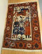 5 FT 4 IN X 3 T 7 IN ORIENTAL RUG W/4 PEOPLE & A