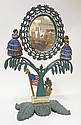 JENNY LIND CAST IRON MIRROR W/2 FULL LENGTH LADIES, AMERICAN