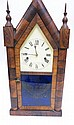 GILBERT STEEPLE CLOCK W/AMERICAN EAGLE ON THE