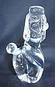 DAUM, FRANCE LARGE CRYSTAL POODLE; 9 1/4 IN H