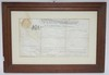 FRAMED 1810 PENNSYLVANIA DEED. BERKS COUNTY, LAMB'S PASTURE. JOHN LAMB.